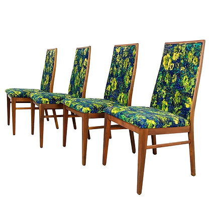 #5388 Set of 4 Milo Baughman for Dillingham Dining Chairs