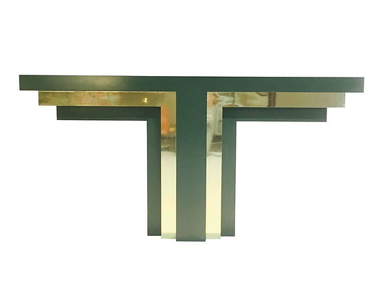 """#2337 Green """"T"""" Shaped Console"""