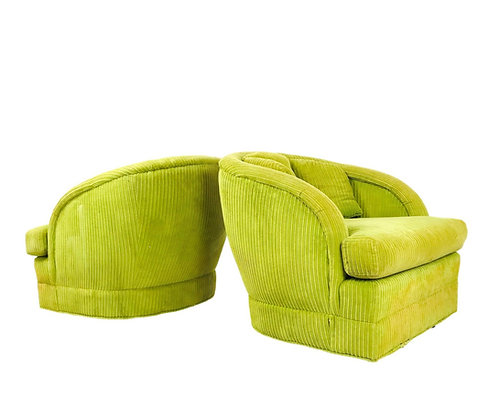 #5397 Pair of Lime Green Chairs on Casters