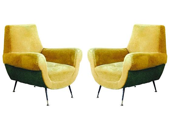 #2184 Pr Gigi Radice Italian Armchairs