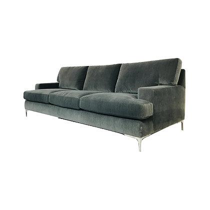 #4644 Charcoal Velvet Bernhardt Sofa