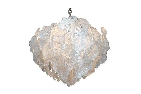 #1283 Murano Glass Leaf Chandelier