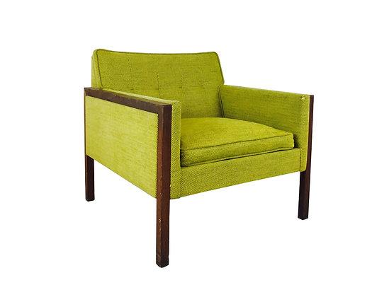 #2867 Single MCM Green Armchair
