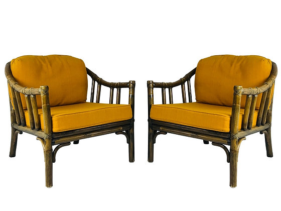 #3555 Pair McGuire Lounge Chairs