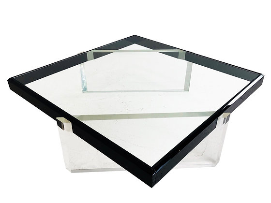 #3980 Black & Clear Lucite Coffee Table