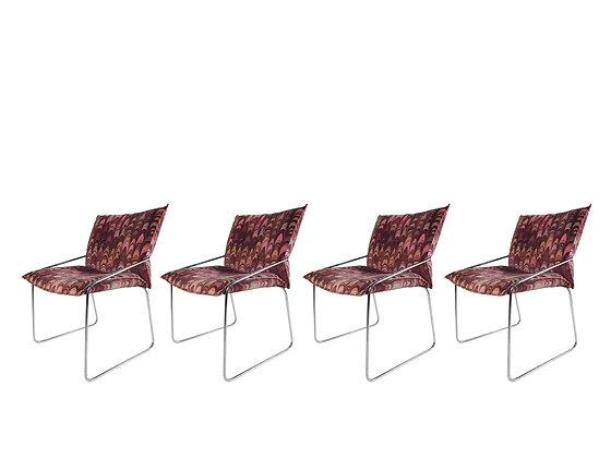 #3158 Set of 4 Jack Lenor Larsen Dining Chairs