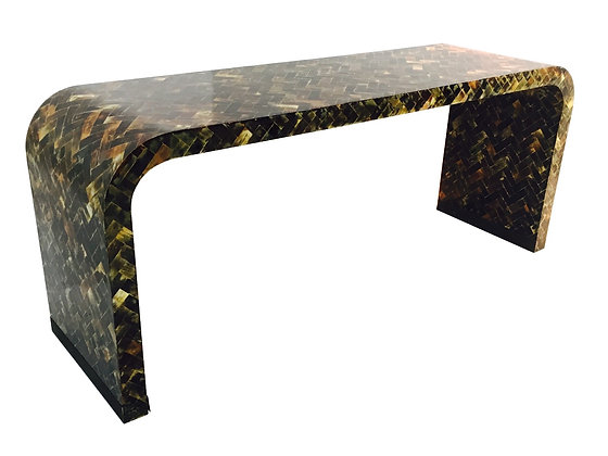 #2522 Tessellated Horn Console Table