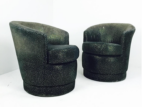 #2364 Karl Springer Style Swivel Chairs