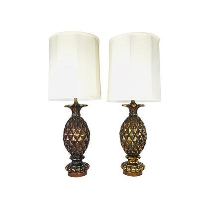 #4903 Pair Pineapple Lamps