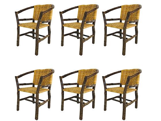 #3579 Set of Six Adirondack Hickory Chairs