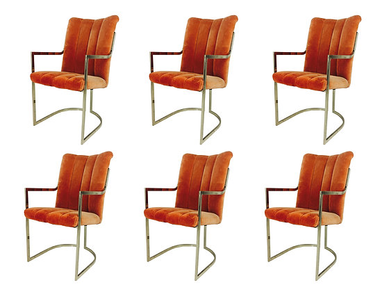 #2341 Set of 6 Pierre Cardin Dining Chairs