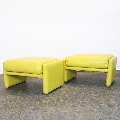 #7400 Pair Yellow Parson Style Stools