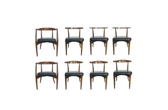 #4805 Set 8 Walnut Dining Chairs