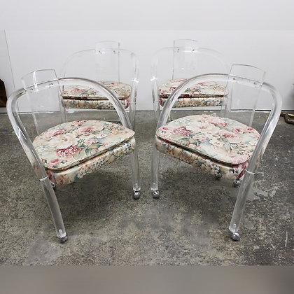 8370 Set of 4 Acrylic Chairs