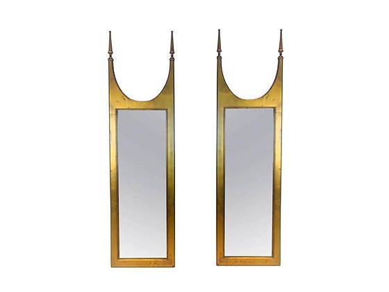 #2079 Pair MOD Gold Leaf Double Spire Mirrors