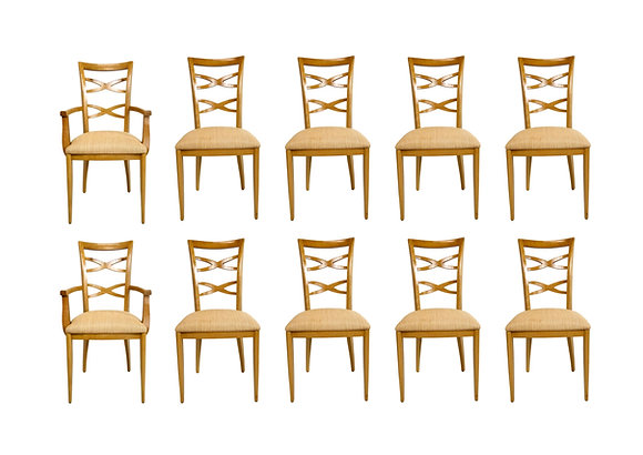#5394 Set of 10 Custom Dining Chairs in the style of Jan Showers
