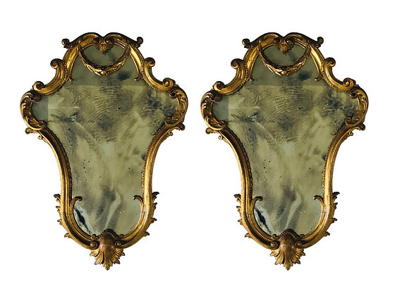 #3509 Pair of Gold French Mirrors