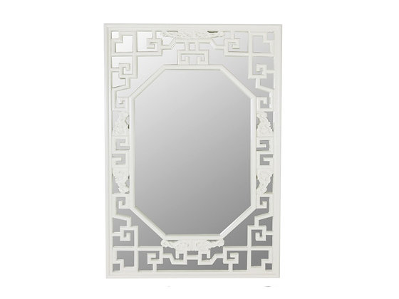 #1091 Asian Lacquered Mirror