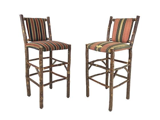 #3801 Pair of Hickory Bar Stools