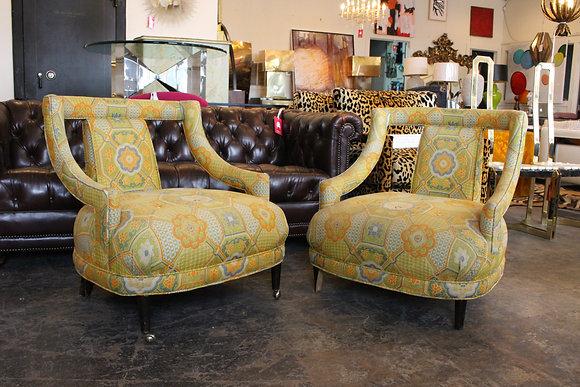 8462 Pair Low Sitting Slipper Chairs