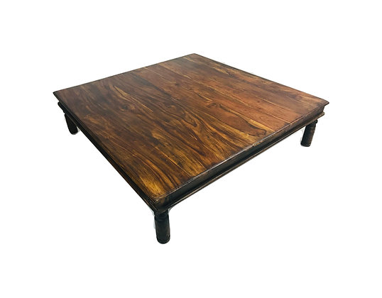 #4804 Oversized Rustic Rosewood Coffee Table