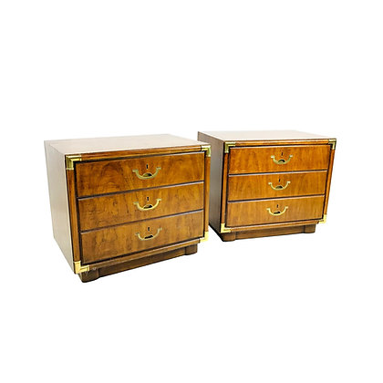 #5211 Pair of Campaign Style Nightstands