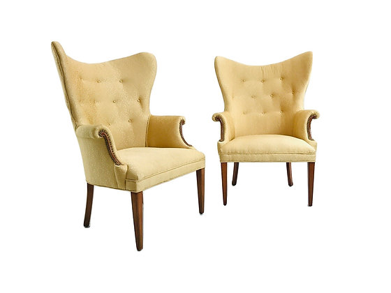 #4909 Pair Butterfly Wing Chairs