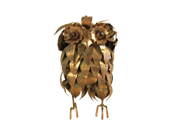 #2062 Large Brass Owl by Curtis Jeré