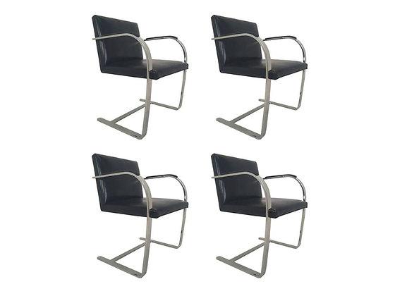 #1806 Set of 4 BRNO Chairs w/Sharkskin Pads
