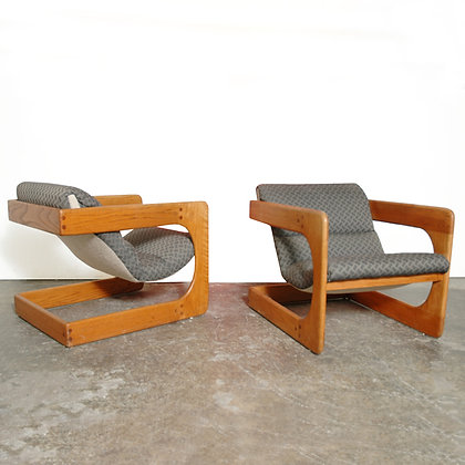 #6153 Pair Cantilevered Sling Chairs