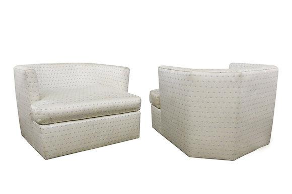 #8778 Pair Hex Milo Baughman Chairs