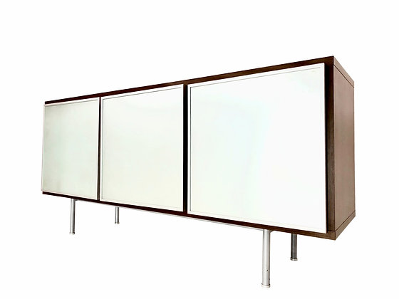 #3866 MOD Credenza with Frosted Glass Panel Fronts
