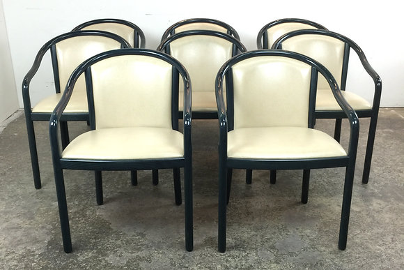 #1456 Set of 8 Italian Chairs in Style of Ward B.