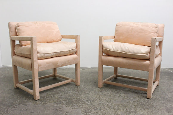 #8572 Pair Pink Parsons Chairs by Century