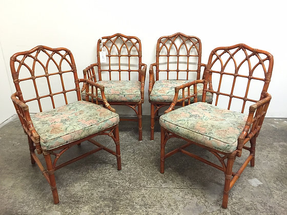 8855 Set of 4 Arm Chairs by McGuire