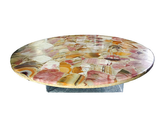 #2765 Agate Coffee Table with Lucite Base
