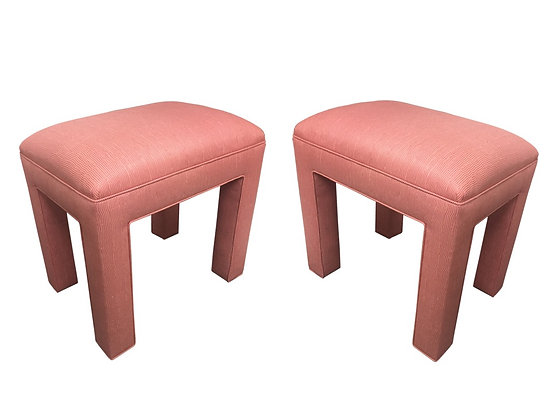 #2203 Tall Pink Parson Style Stools