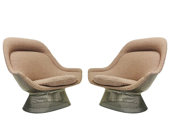 #3628 Pair of Warren Platner Lounge Chairs