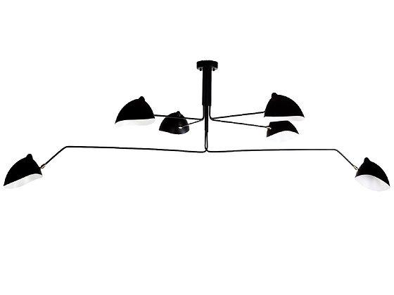 #3040 6 Light MCM Ceiling Mounted Light Fixture
