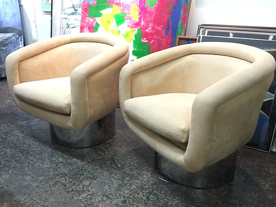 #1010 Pair Swivel Chairs for Pace Collection
