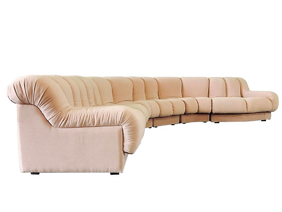 #3160 Pink Channel Tufted Sectional Sofa by Preview