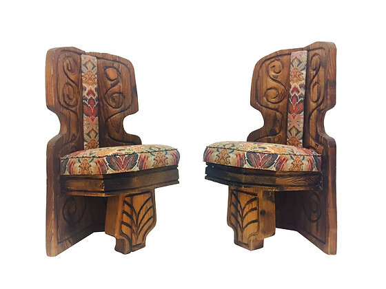 #2307 Pr Carved Aphrochic Chairs