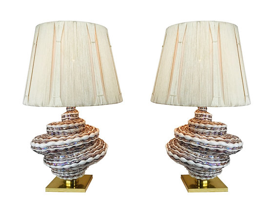 #4052 Pair Of Spiral Table Lamps