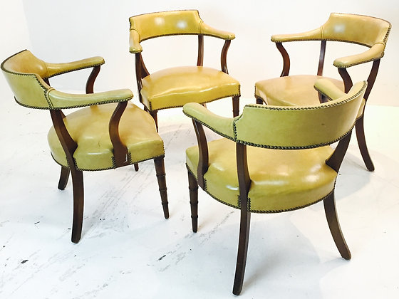 #3539 Set of 4 MCM Armchairs