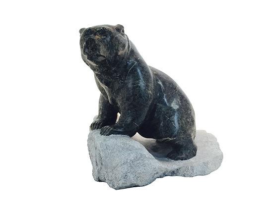 #2759 Inuit Soapstone Bear Sculpture