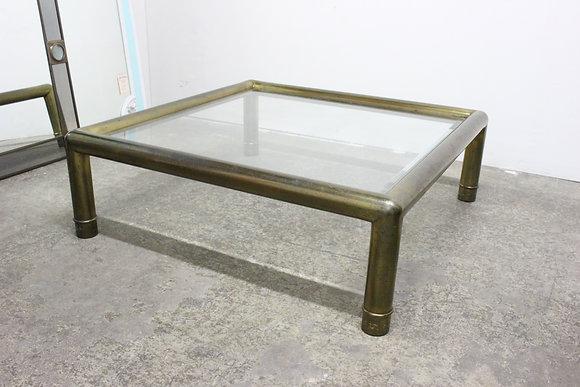 #8836 70s Brass Mastercraft Coffee Table