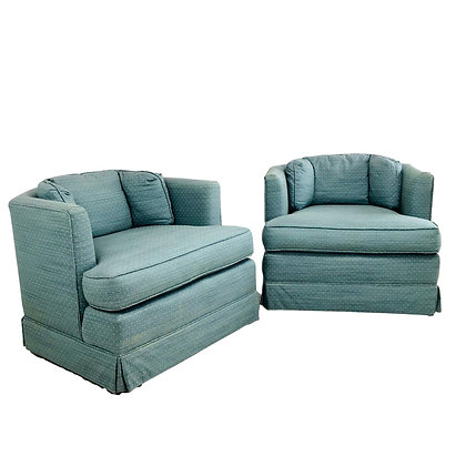 #5398 Pair of Hex Swivel Chairs