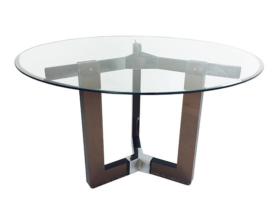 #2258 Brown Lucite Dining Table w/Glass Top