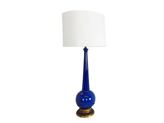 #2841 Cobalt Blue Glazed Lamp