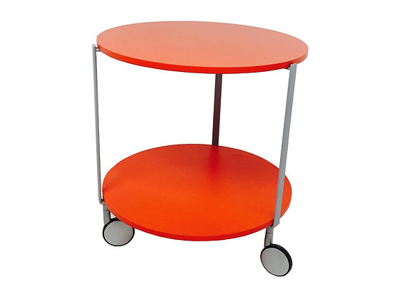 #2834 Red Zanotta Table on Wheels